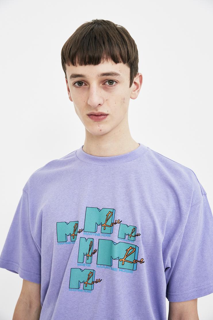 Martine Rose Lilac MTV T-shirt shirt top S/S 18 SS18 Spring Summer 2018 Machine-A