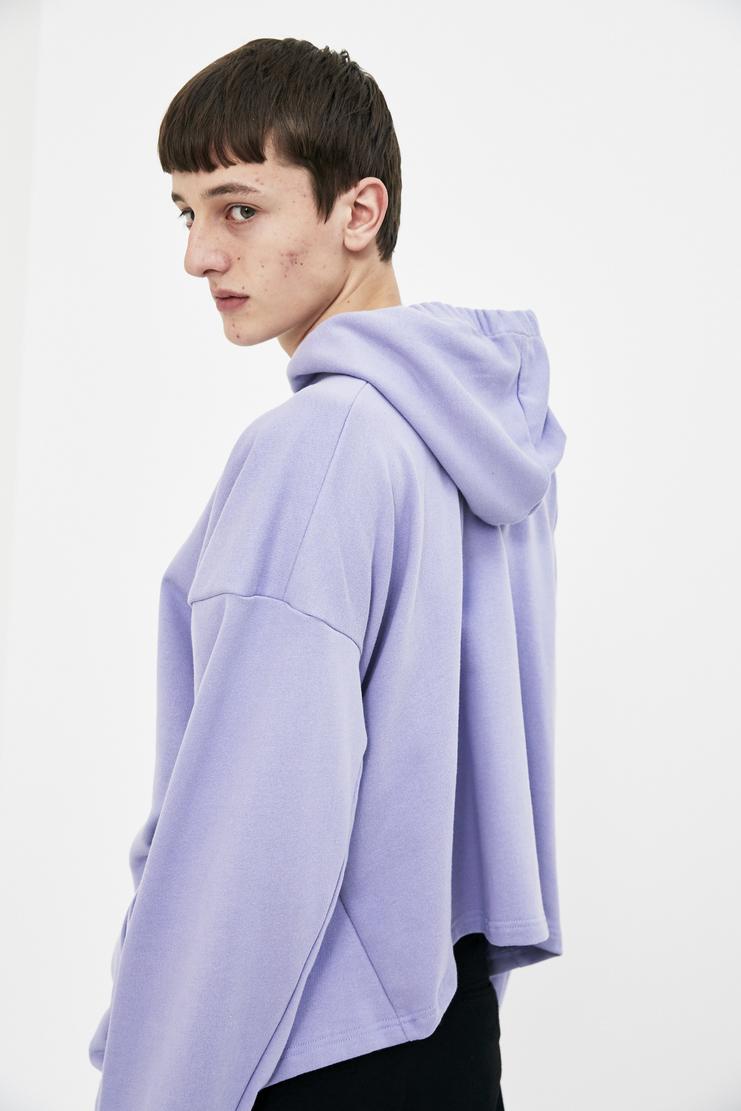 Martine Rose lilac logo print hoodie hoody long sleeve top jumper S/S 18 SS18 Spring Summer 2018 Machine-A