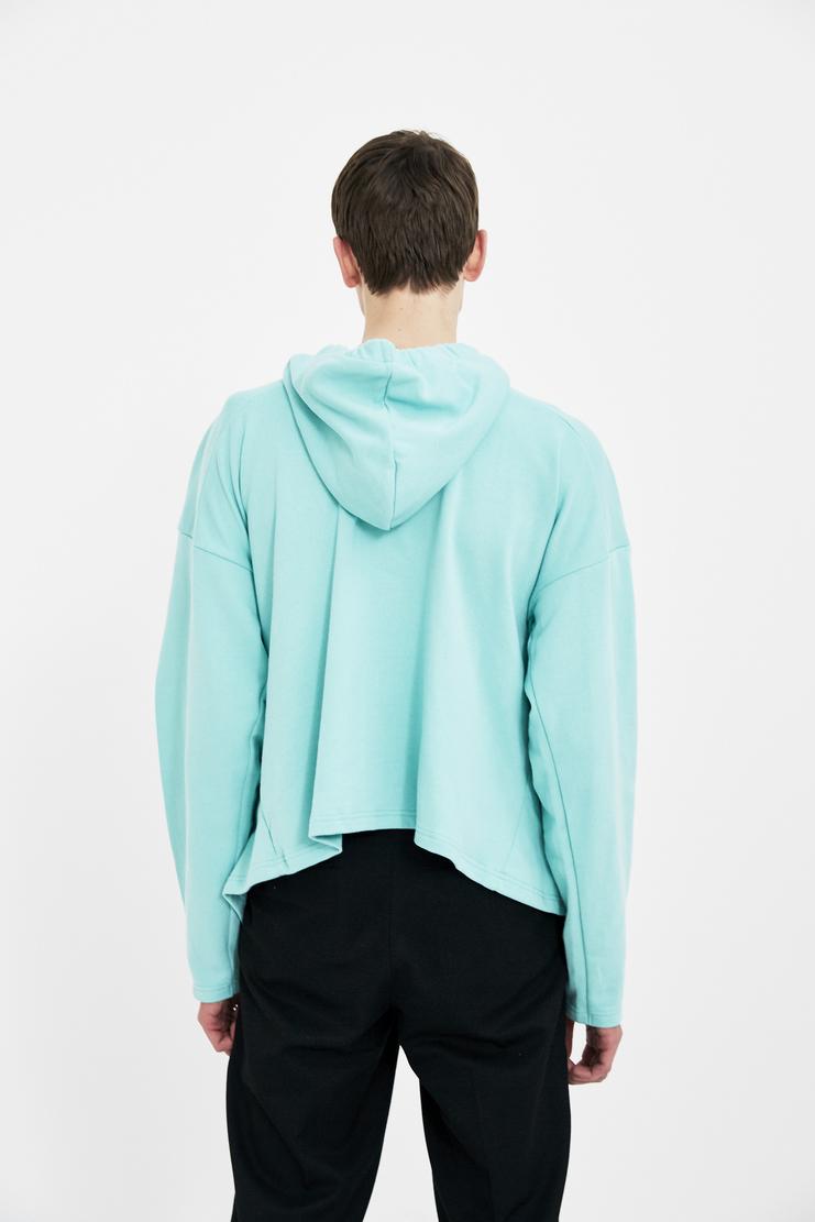 Martine Rose Light Blue logo print hoodie hoody long sleeve top jumper S/S 18 SS18 Spring Summer 2018 Machine-A