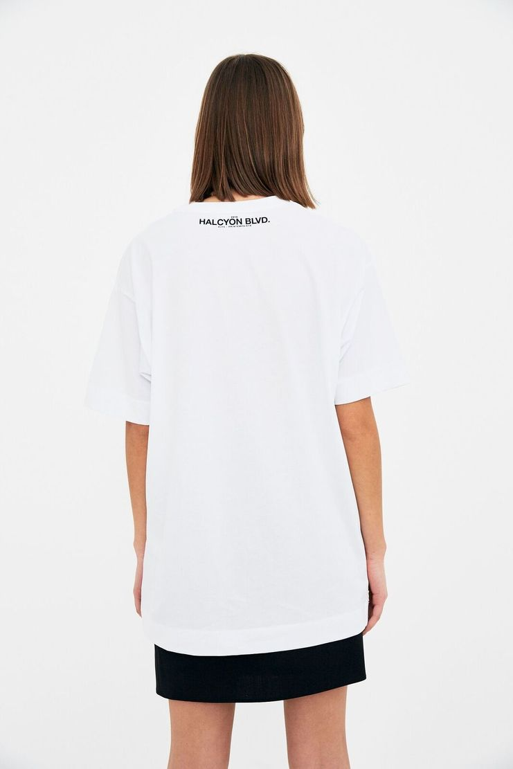 ALYX White 'Hand' T-Shirt Tee Top T Shirt White Blue Hand Print Paint Painted Printed Alix Aleeks Aleks Alyyx Alkes Spring  Summer S/S 18 SS18 AAUTS0010