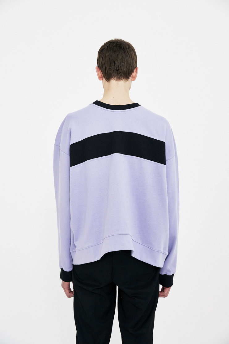 Martine Rose lilac collapsed crewneck long sleeve top jumper S/S 18 SS18 Spring Summer 2018 Machine-A