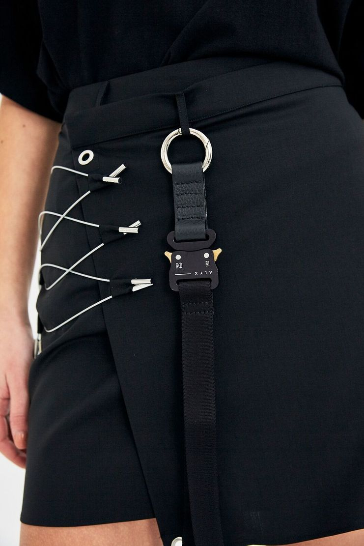 ALYX Black Long Keyholder Fabric Cordura Accessories Accessory Unisex Black New Arrivals Webbed Buckle Keychain Keyring Strap Aleeks Alekx Aleks Alix Alyyx Allyx Alicks Aleaks AAUKE0016
