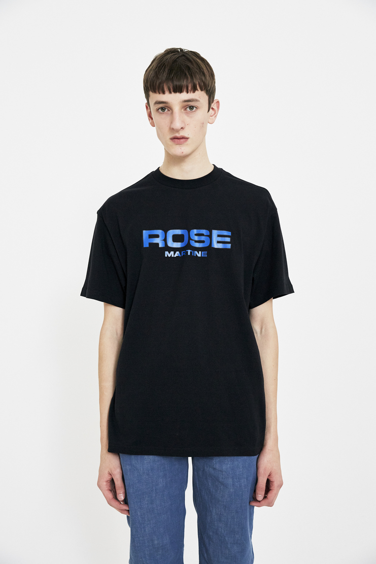 Martine Rose black logo t shirt t-shirt tee top S/S 18 SS18 Spring Summer 2018 Machine-A