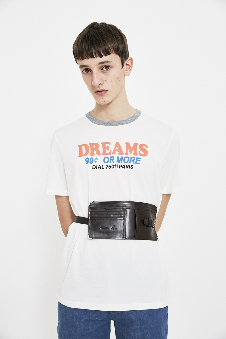 Martine Rose dark brown leather wallet waistpack accessory S/S 18 SS18 Spring Summer 2018 Machine-A