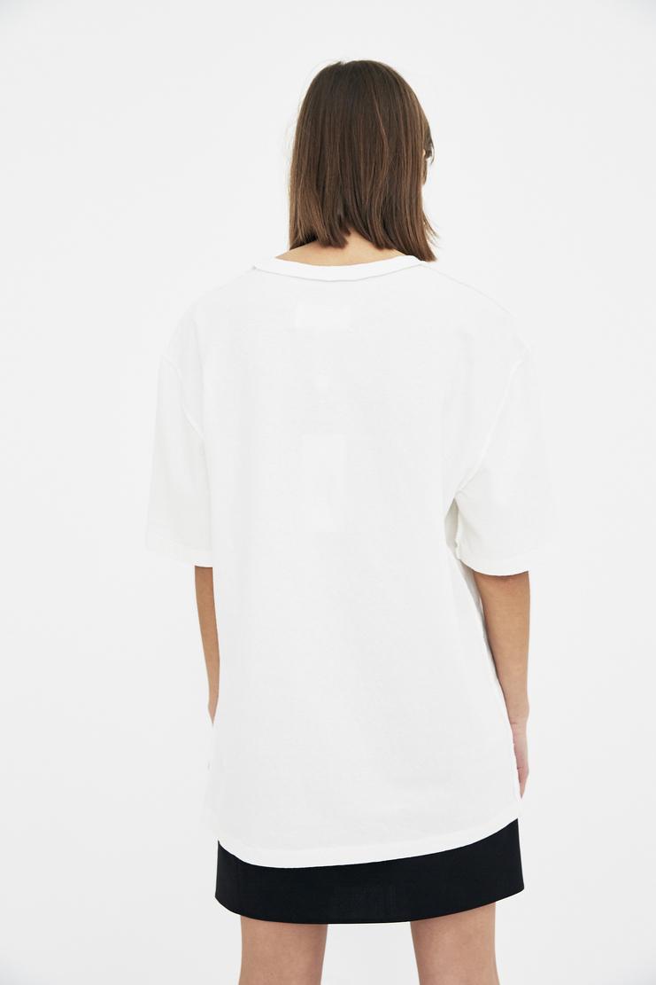 Maison Margiela white tee shirt threading detail t-shirt t shirt Spring Summer 18 SS18 S/S/ 18 MMM Margela Margella Mason Masion Machine-A
