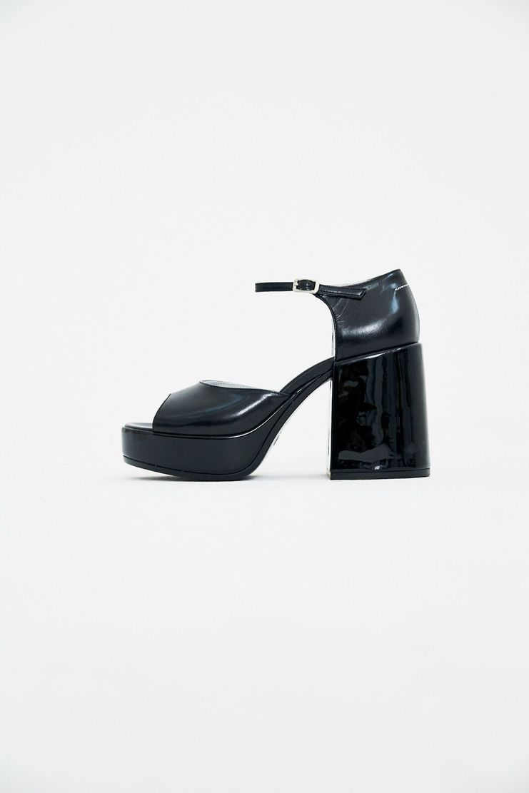 MM6 Black Platform Sandals Heels Shoes S/S 18 SS18 SHOWstudio Machine-A Margela Margella Mason Maisom Margeila Maison Margiela MMM6 S59WP0024