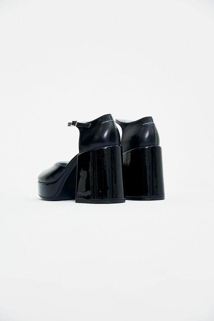 MM6 Black Platform Sandals Heels Shoes S/S 18 SS18 SHOWstudio Machine-A Margela Margella Mason Maisom Margeila Maison Margiela MMM6 S59WP0024
