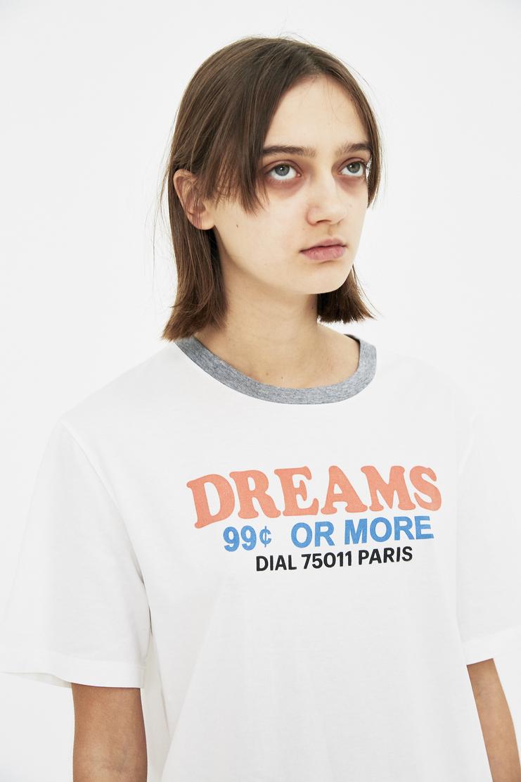 Maison Margiela white tee shirt slogon 'dreams' t-shirt t shirt Spring Summer 18 SS18 S/S/ 18 MMM Margela Margella Mason Masion Machine-A