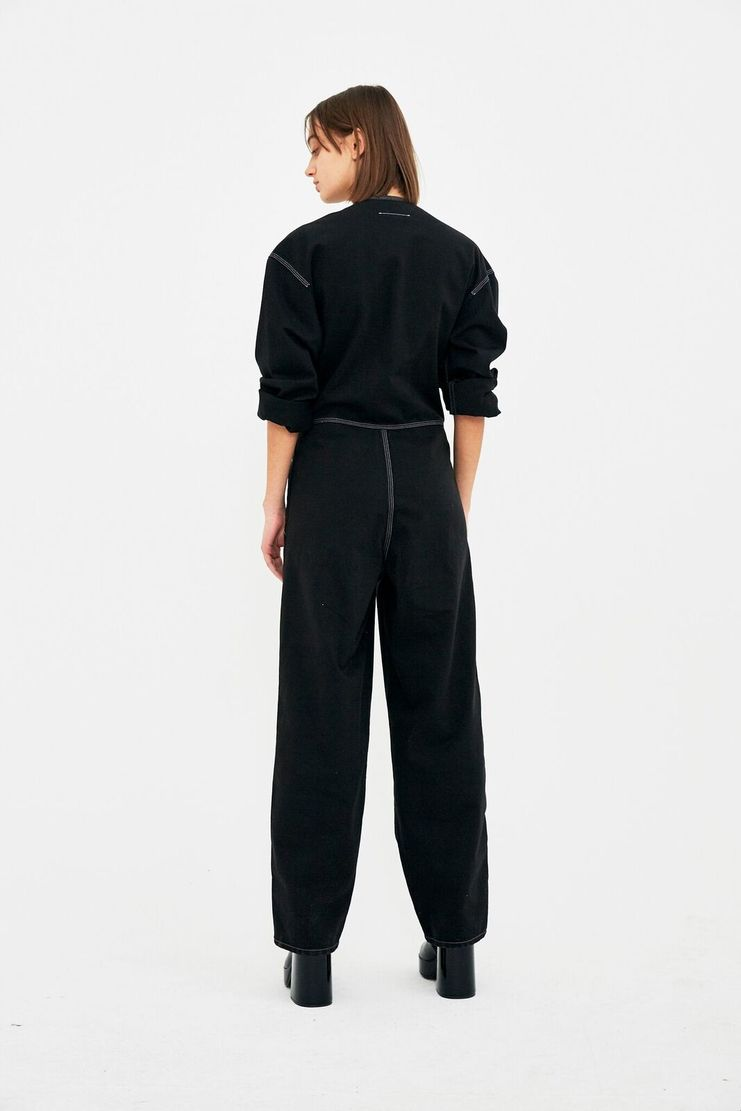 MM6 Black Boiler Suit Jumpsuit Trousers Top Wide Leg Pants S/S 18 SS18 SHOWstudio Machine-A Margela Margella Mason Maisom Margeila Maison Margiela MMM6 S52FP0022