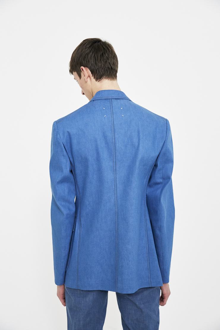 Maison Margiela blue jacket coats outerwear menswear Spring Summer 18 SS18 S/S/ 18 MMM Margela Margella Mason Masion Machine-A