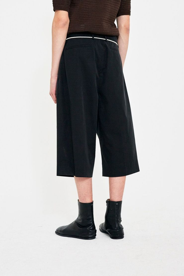 Maison Margiela Black Tailored Shorts Trousers S/S 18 SS18 Margela Margella Mason Spring Summer S50MU0005