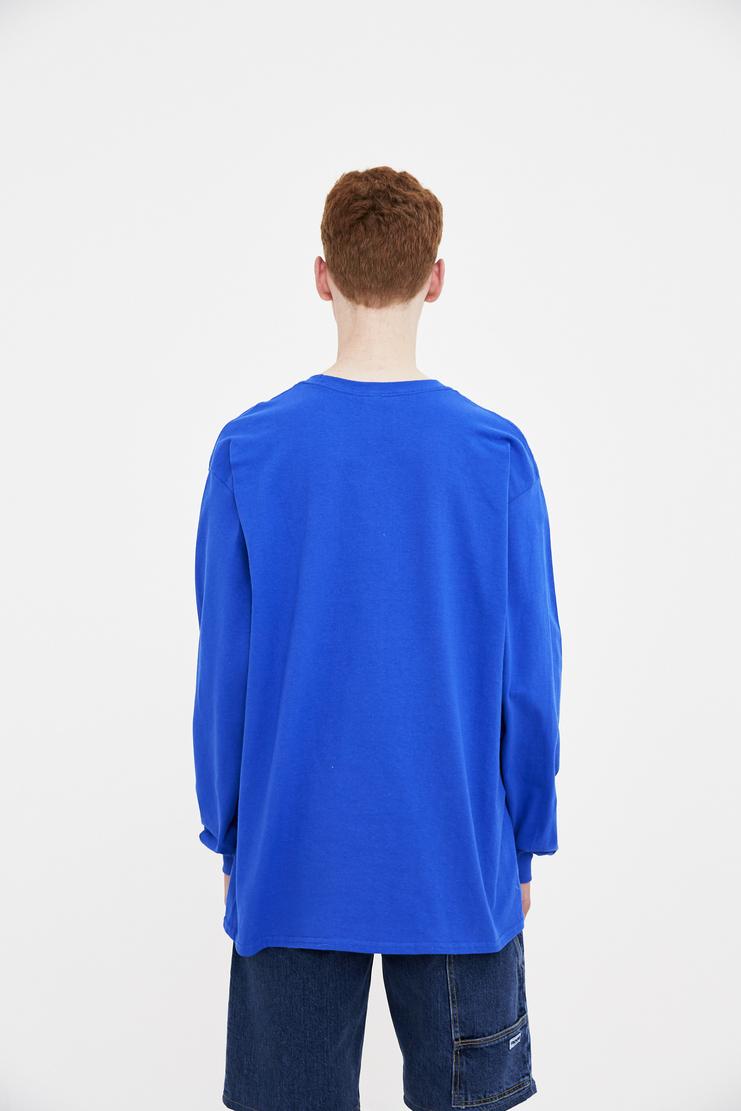 Expert Horror Blue Fade Logo Long Sleeve Tee T-shirt Top Green S/S 18 SS18 Spring Summer 2018 Machine-A