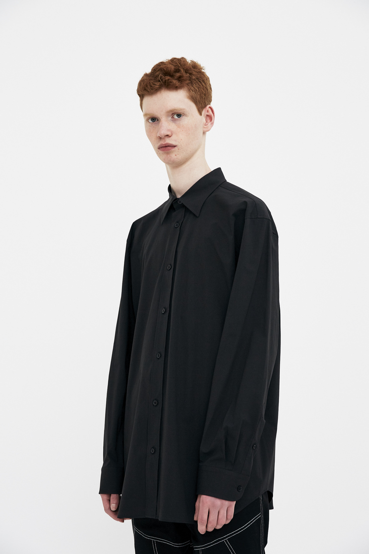 Raf Simons Black embroidered Shirt printed S/S 18 SS18 Spring Summer 2018 raff simmons joy division substance album