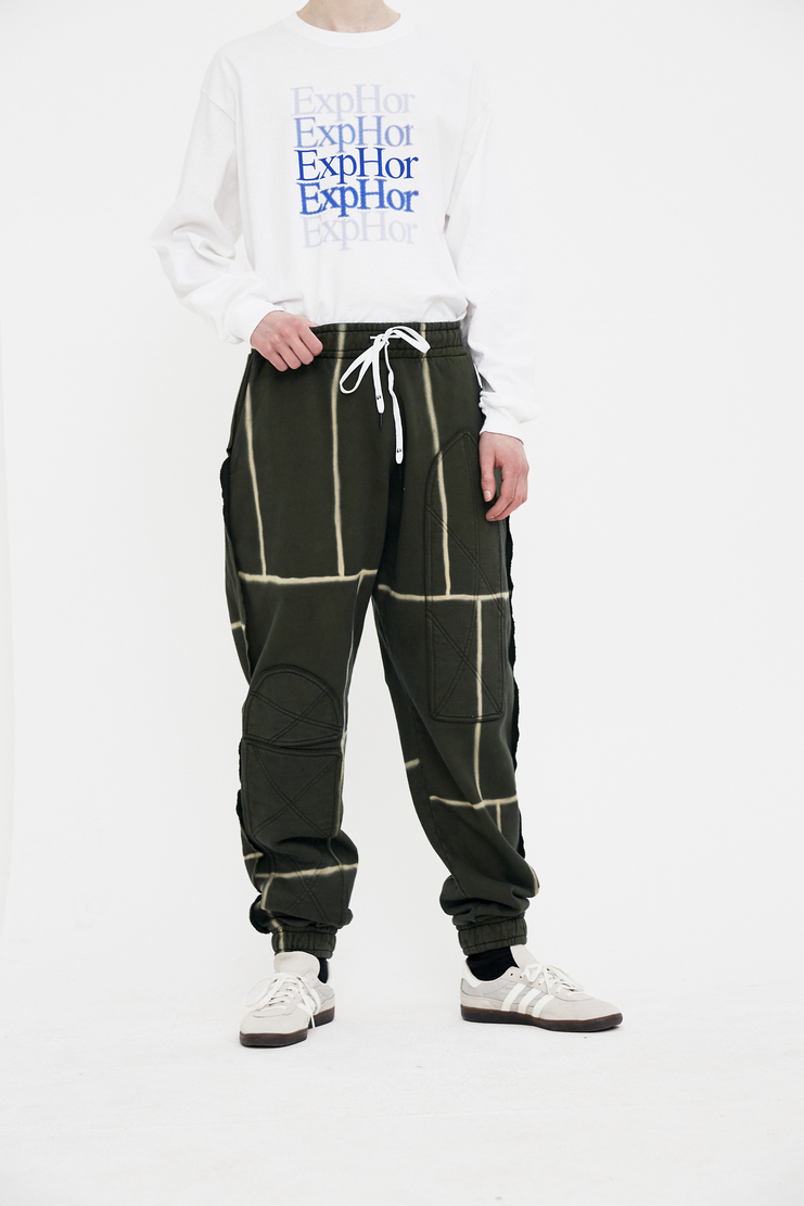 Liam Hodges Infantry Joggers Trousers bottom Pants sweatpants SS18 S/S 18 Spring Summer Grey Machine-A green khaki bleach