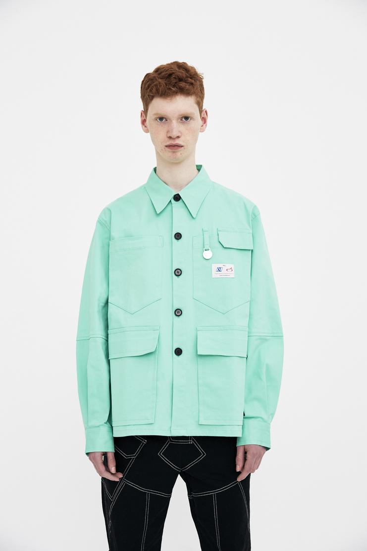 Xander Zhou mint long sleeve 4 pocket four pocket shirt top s/s 18 ss18 Spring Summer 2018 xandar zou Machine-A