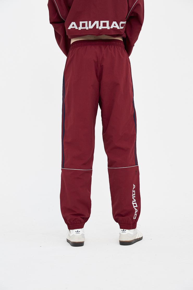 Gosha Rubchinskiy burgundy track pants trousers bottom joggers SS18 SS18 S/S 18 coat jacket rubchinsky Machine-A
