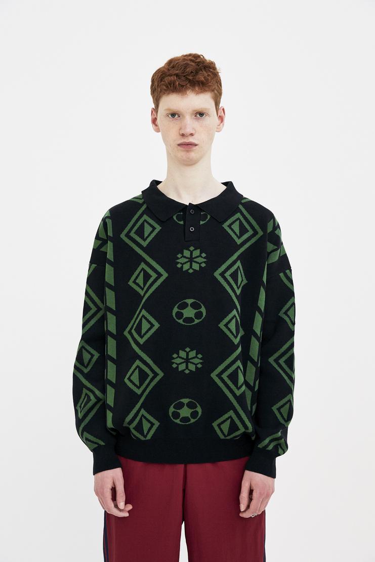 Gosha Rubchinskiy geometric knit sweater ss18 jumper rubchinski rubcinsckiy russia dover street machine a