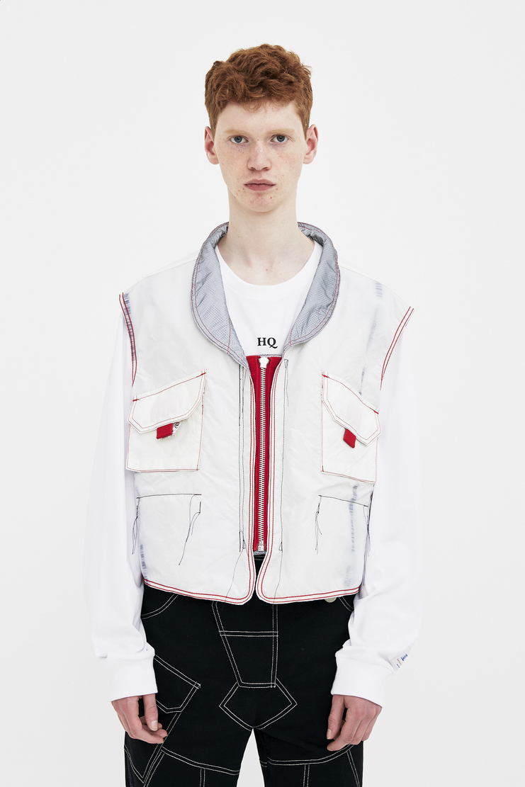 KANGHYUK Grey Reflective Vest Coat Jacket Reversible Spring Summer 2018 SS 18 S/S18 Machine-A