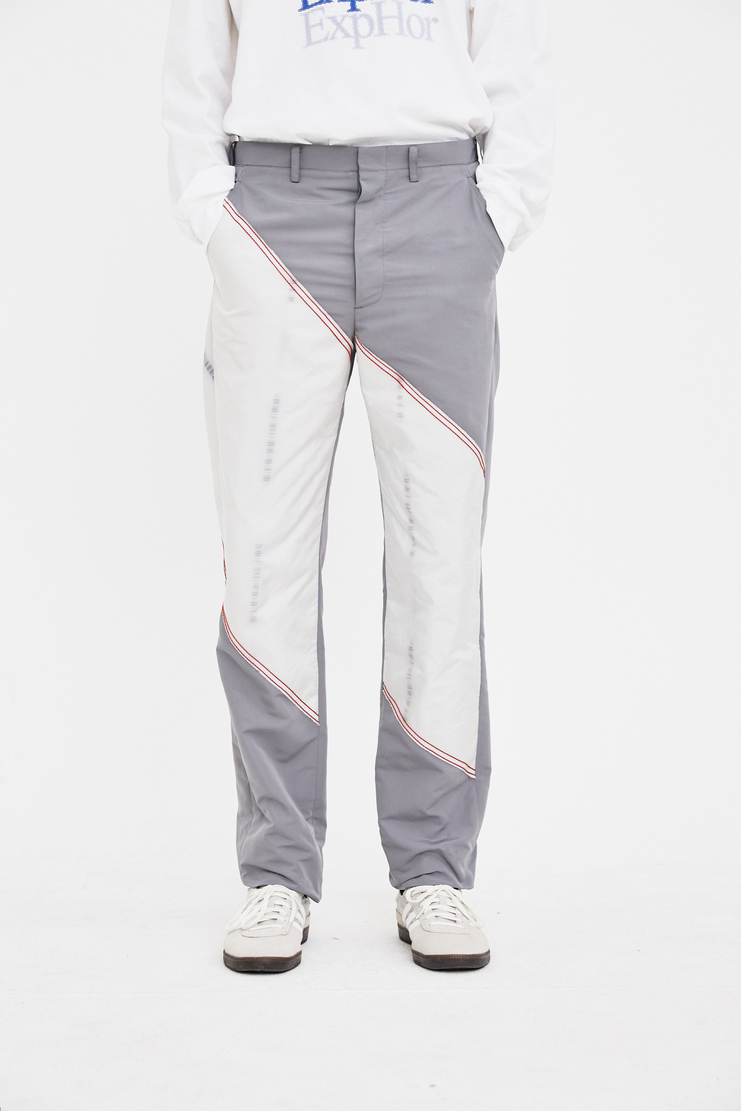 KANGHYUK Grey Patched Trousers Bottom Pants Spring Summer 2018 SS 18 S/S18 Machine-A
