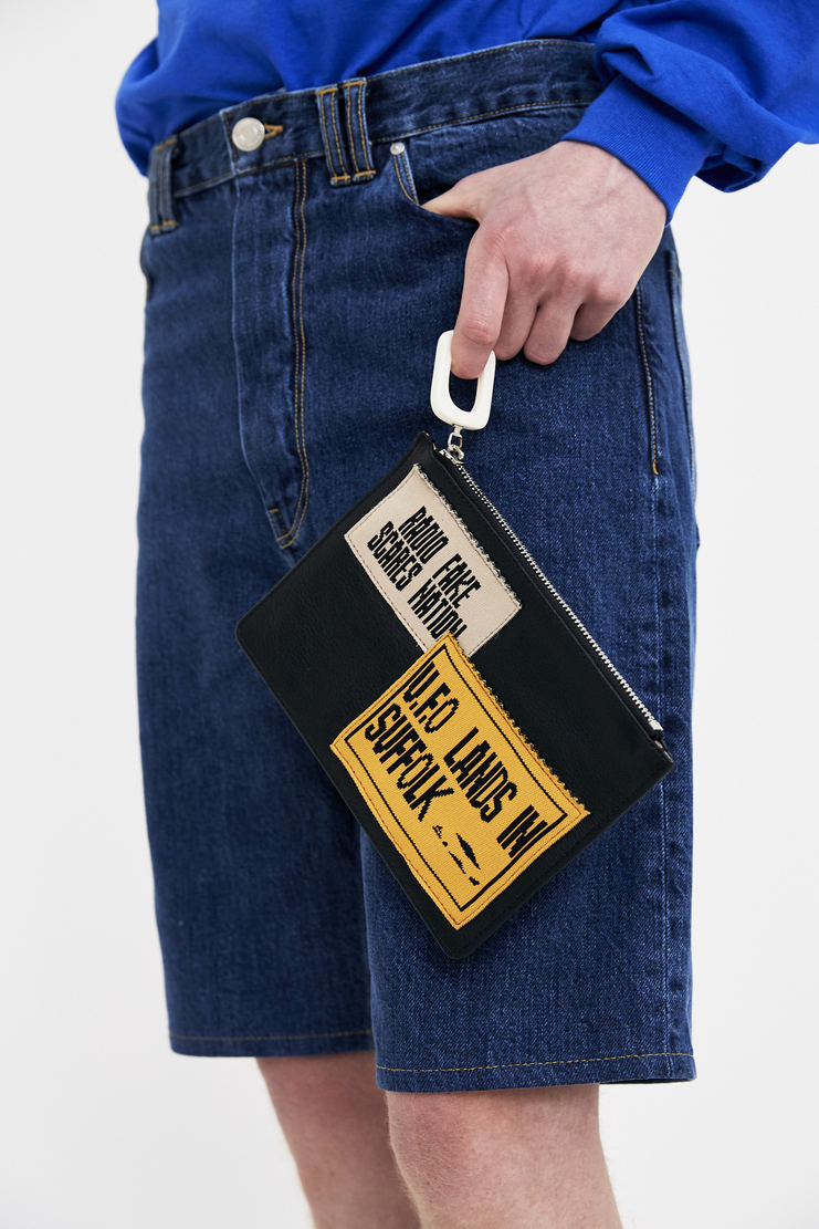 JW Anderson pouch with patches accessory bag S/S 18 ss18 spring summer 2018 Machine-A leather