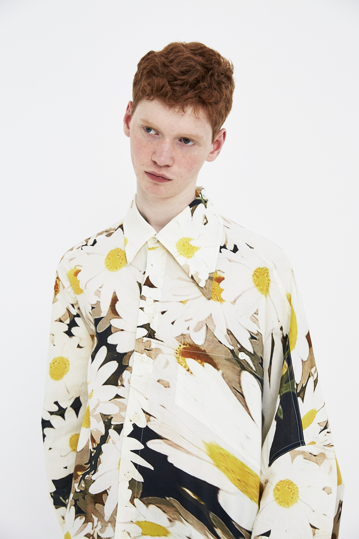 Alex Mullins Warped Long Sleeve Shirt flowers floral cotton tshirt ss18 spring summer 2018 oversized large stretched daisy