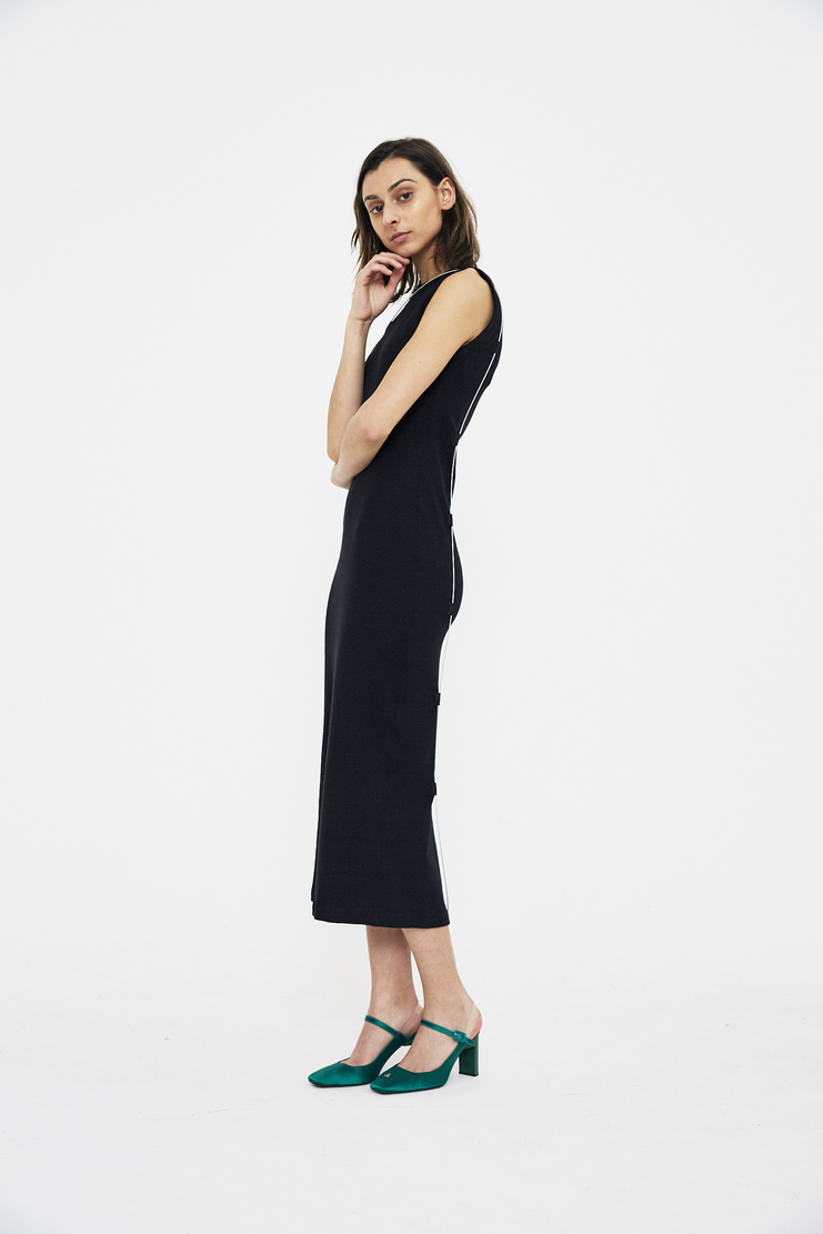 ALYX Long Ribbed Dress with Wire silver sleeveless maxi ss18 spring summer 2018 cotton