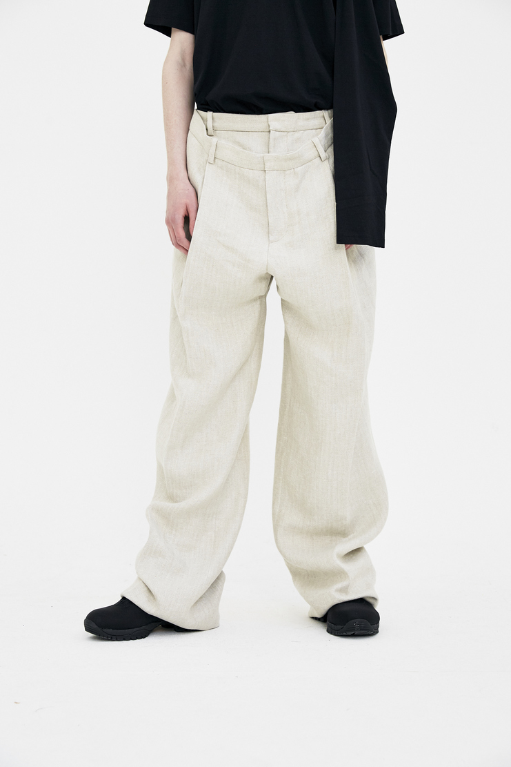 Y/Project Double Trousers ss18 black spring summer 2018  pants yproject y project