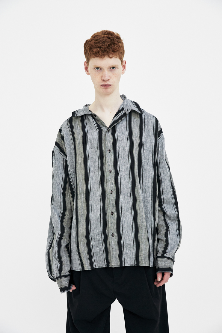 Y/Project Double Striped Shirt SS18 spring summer 2018 grey stripe black double layer top