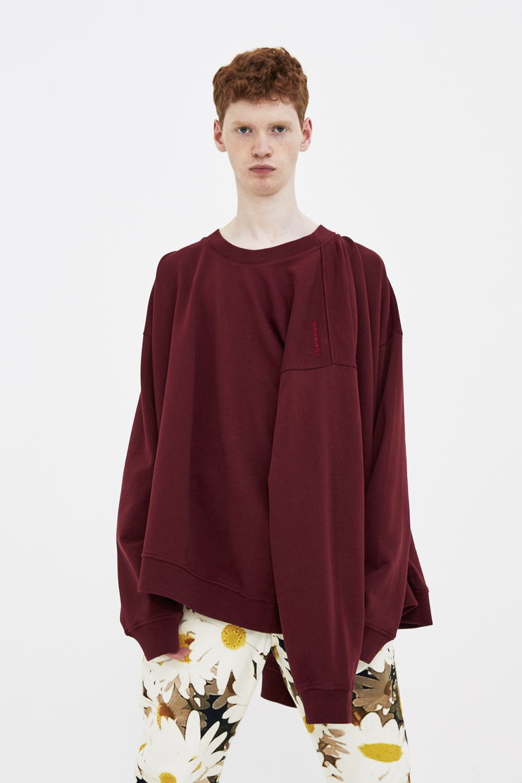 Y/Project Burgundy Multi-Sleeve Jumper ss18 2018 spring summer yproject y project pullover red wine