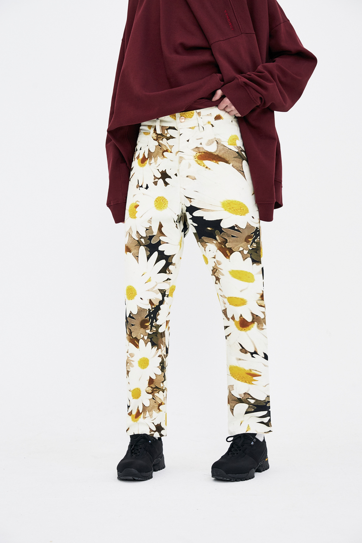 Alex Mullins Trousers floral patch print flowers ss18 chin spring summer 2018 Daisy