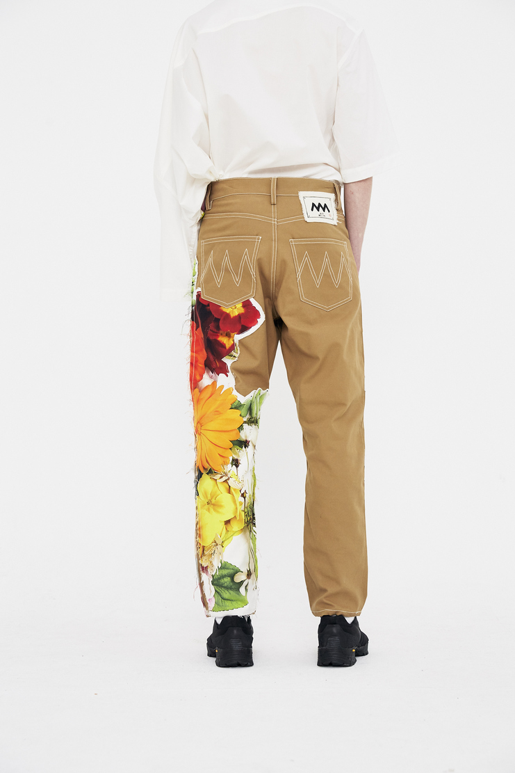 Alex Mullins Trousers floral patch print flowers ss18 chin spring summer 2018