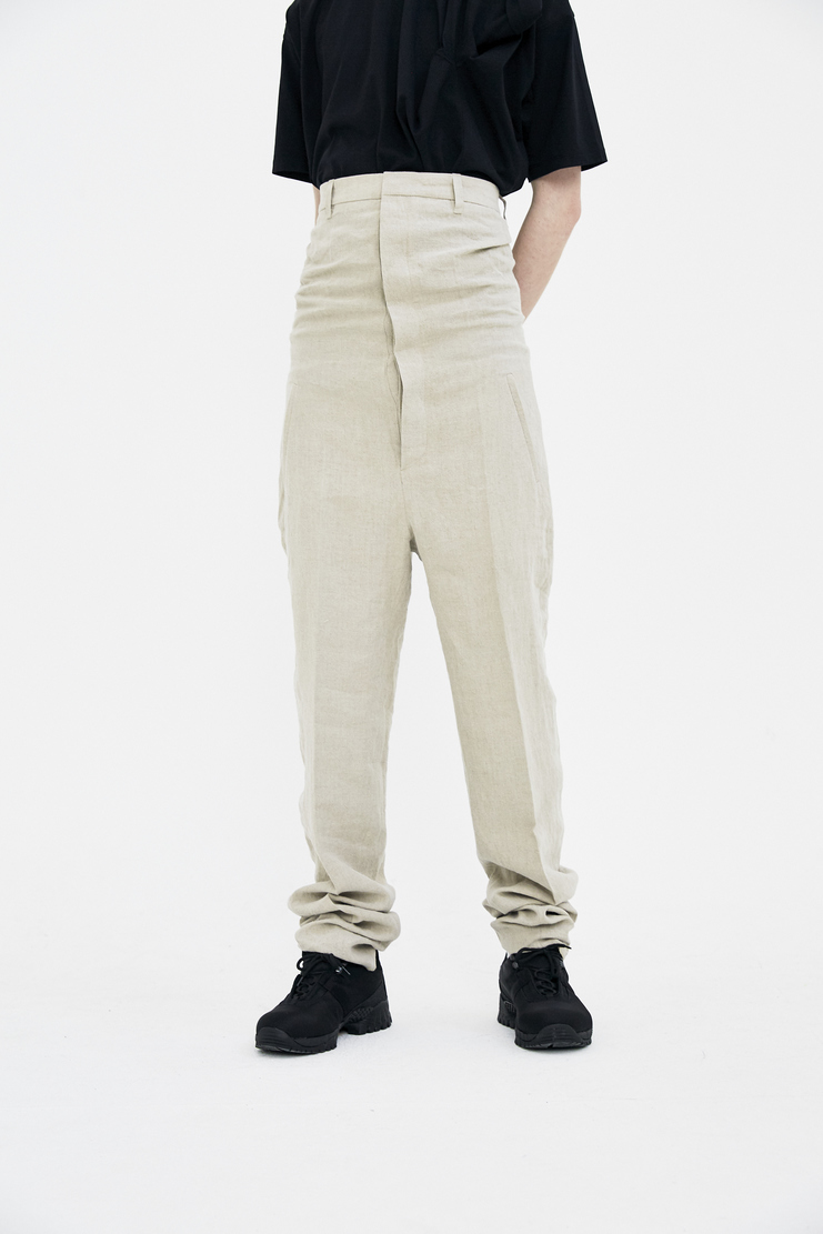 Y/Project High Waisted Beige Trousers SS18 Spring Summer 2018 tailored yproject y project