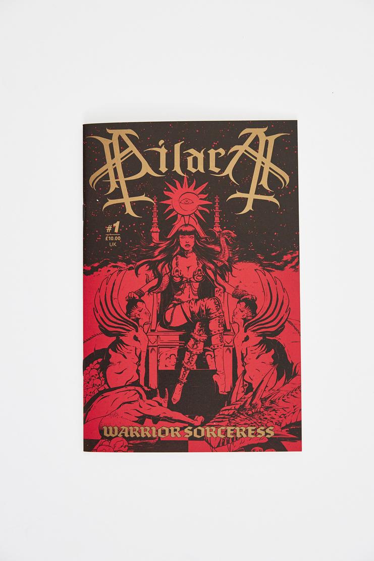 Dilara Findikoglu Warrior Sorceress Comic zine book cartoon Amy Tipper-Hale AE Filby ditto findikolu ss18 aw lfw csm london rebel church sun religion superhero