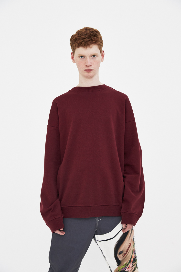 Y/Project Burgundy Jumper ss18 spring summer 2018 y project yproject pullover red crewneck