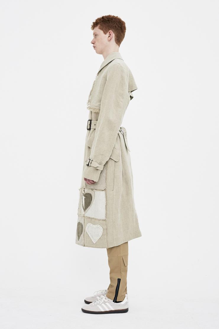 JW Anderson heart detail linen coat jacket outerwear JW Andersonn J W Anderson SS/18 ss18 Spring Summer Machine-A