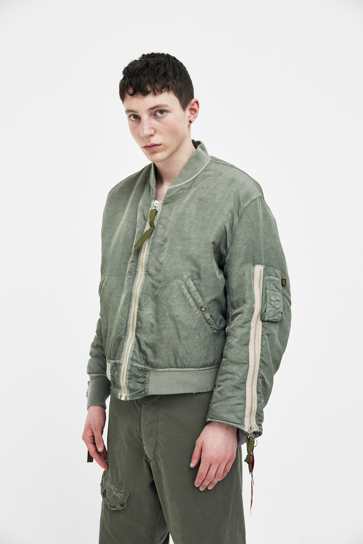 424 X ALPHA X SLAM JAM Green MA-1 Bomber Jacket Coat Outerwear ALPHA Industries Spring Summer 2018 SS18 S/S 18 FOUR TWO FOUR Machine-A