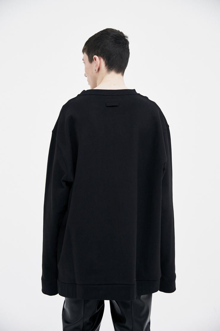 Raf Simons Oversized Crewneck Sweater SS18 Spring Summer 2018 Jumper Black brown sweater