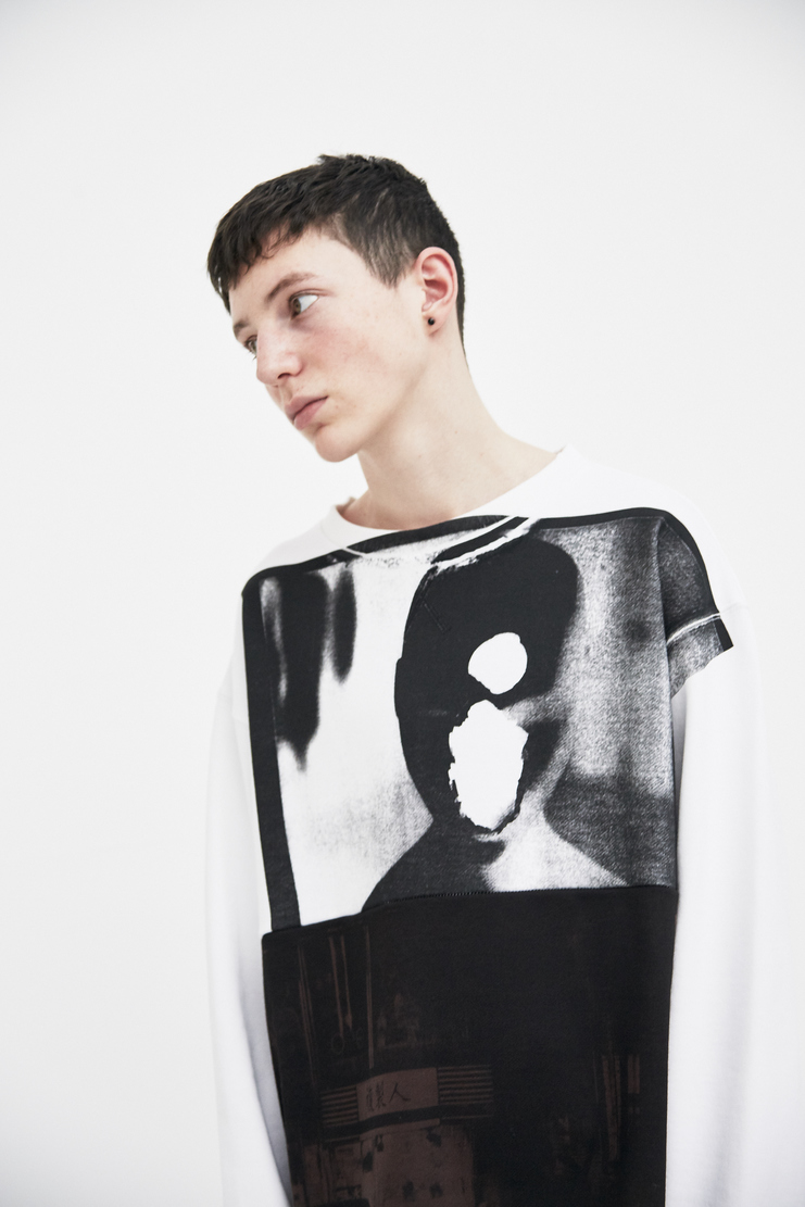 Raf Simons Oversized Crewneck Sweater SS18 Spring Summer 2018 Jumper Black brown sweater white