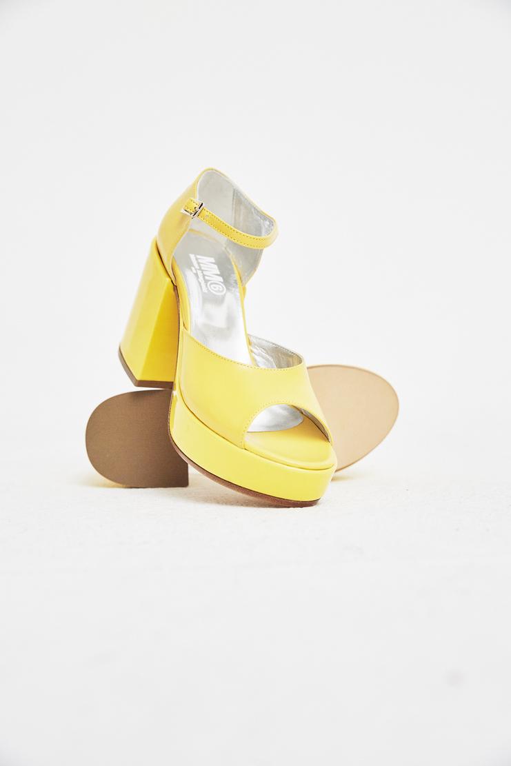 MM6 Yellow Platform Sandals S/S 18 SS18 SHOWstudio Machine-A Margela Margella Mason Maisom Margeila Maison Margiela MMM6 S59WP0024