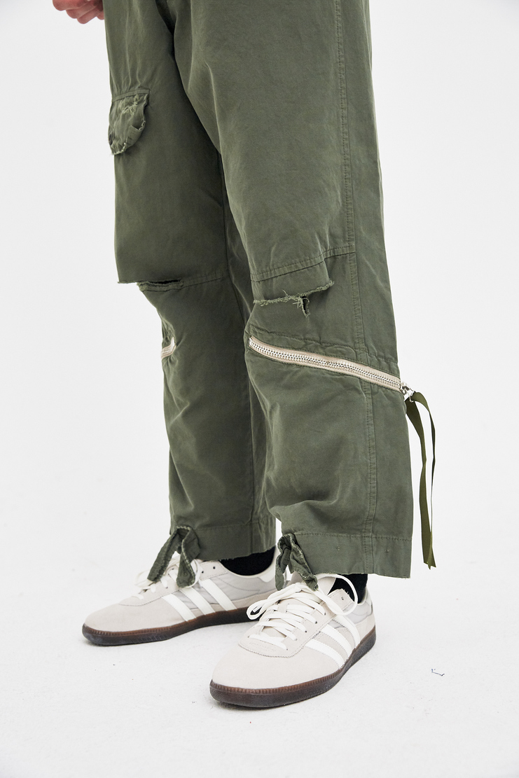 424 X ALPHA X SLAM JAM Green Military Trousers Spring Summer 2018 SS18 S/S 18 Alpha Industries FOUR TWO FOUR Machine-A