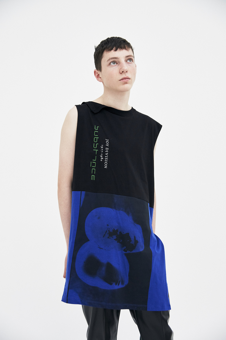 Raf Simons Long Sleeveless Top ss18 spring summer 2018 yellow new order substance Power, Corruption & Lies Peter Saville fashion raf simon rafsimon