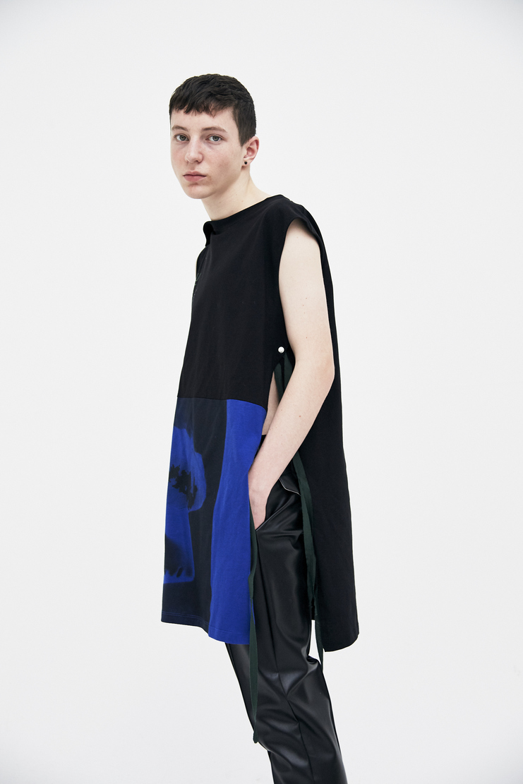 Raf Simons Long Sleeveless Top ss18 spring summer 2018 yellow new order substance Power, Corruption & Lies Peter Saville fashion raf simon rafsimon black blue