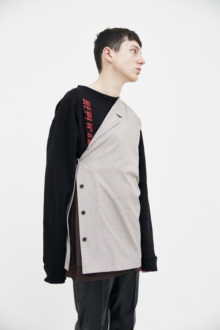 Raf Simons sand Asymmetrical Vest Shirt top simon raf simon Machine-A