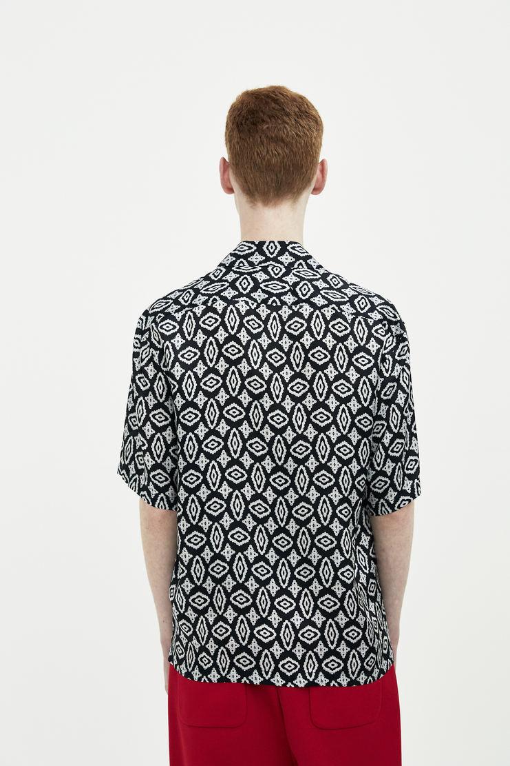 Maison Margiela black paisley short sleeve shirt top button up  Spring Summer 18 SS18 S/S/ 18 MMM Margela Margella Mason Masion Machine-A