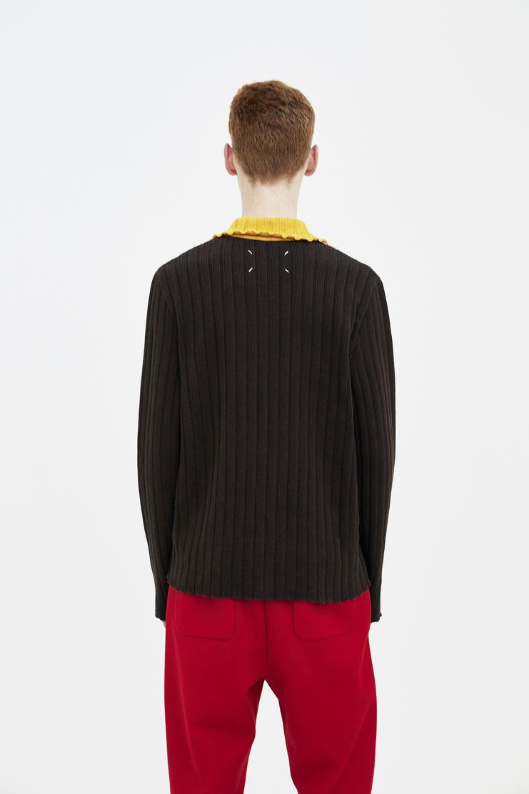 Maison Margiela brown zip collar jumper zip collar detail Spring Summer 18 SS18 S/S/ 18 MMM Margela Margella Mason Masion Machine-A