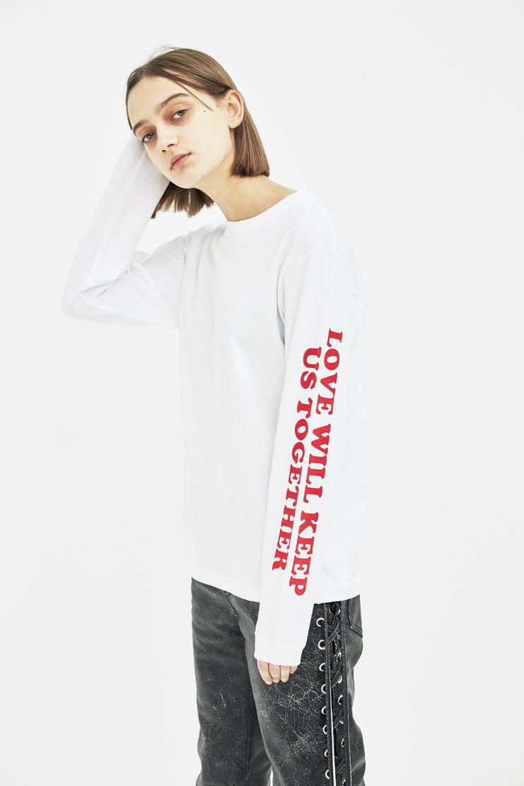 Darylstudio White Reversible Love Will Long Sleeve T-shirt Daryl studio ss18 s/s 18