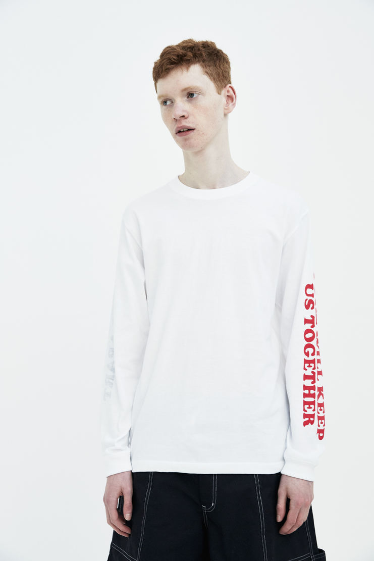 Darylstudio White Reversible Love Will Long Sleeve T-shirt Daryl studio ss18 s/s 18 text print