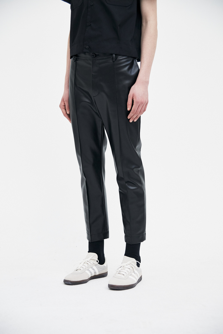 Magliano Skinny Trousers  maliano maljiano ss18 spring summer 2018 pleather faux leather black pants