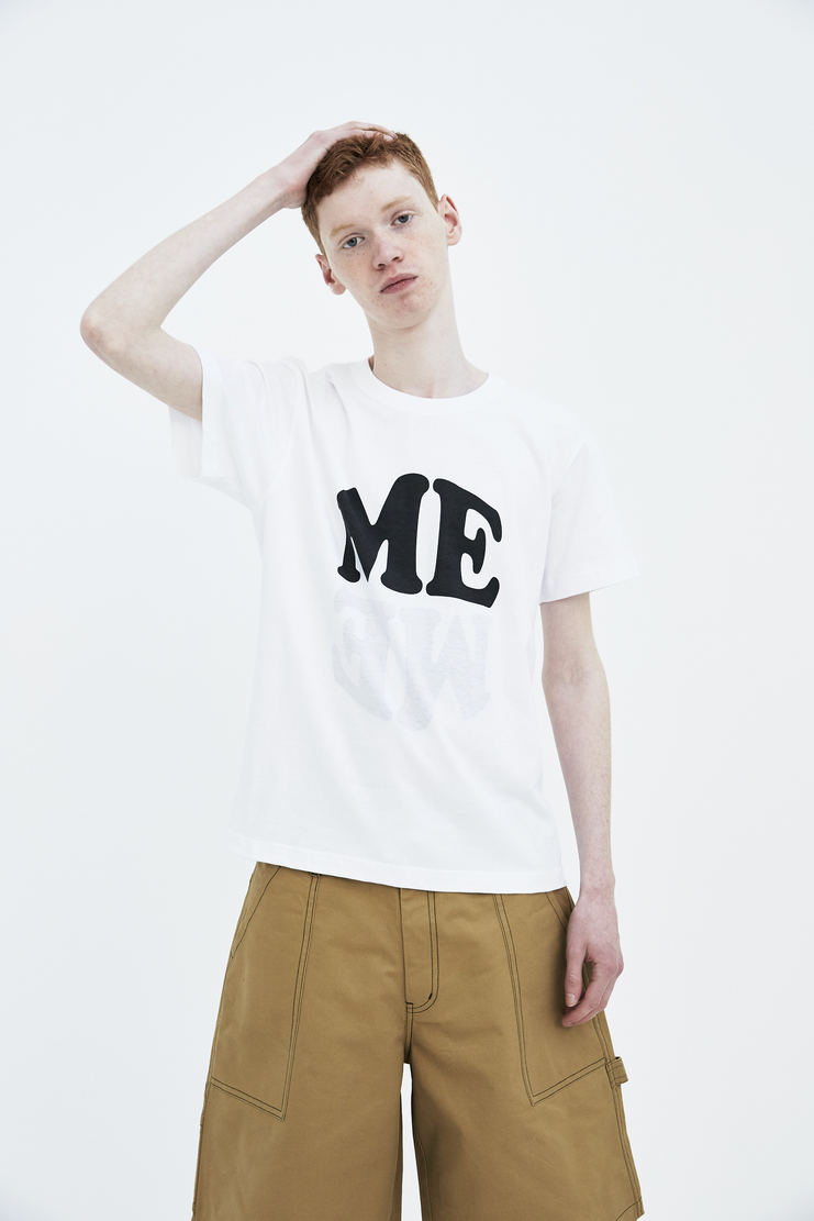 DARYLSTUDIO white Me/We me we T-shirt tshirt top short sleeve s/s 18 ss18 Spring Summer 2018 Machine-A