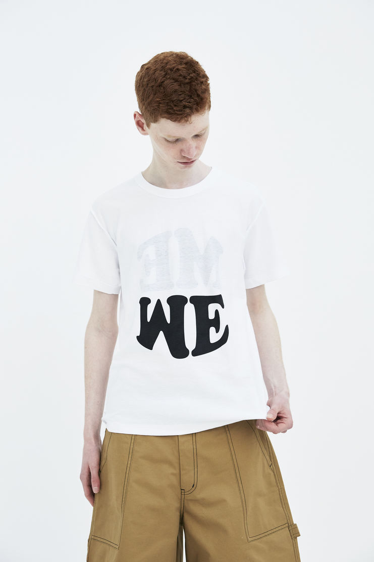 DARYLSTUDIO white Me/We me we T-shirt tshirt top short sleeve s/s 18 ss18 Spring Summer 2018 Machine-A